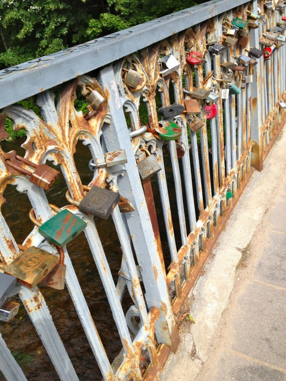 Locks of Love on Užupis Bridge