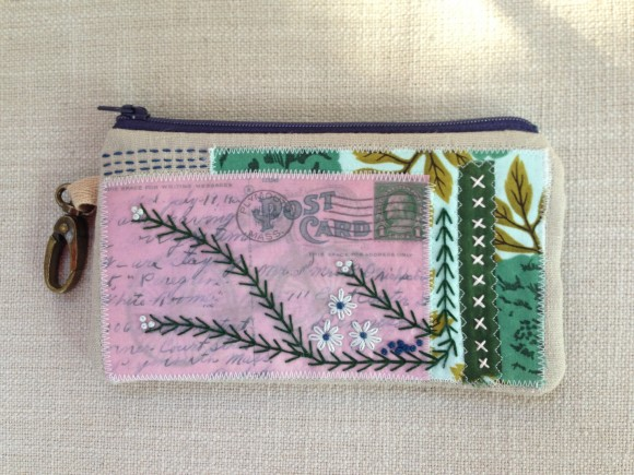 Patchwork Postcard Clutch