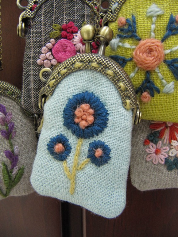 mini coin purses close up
